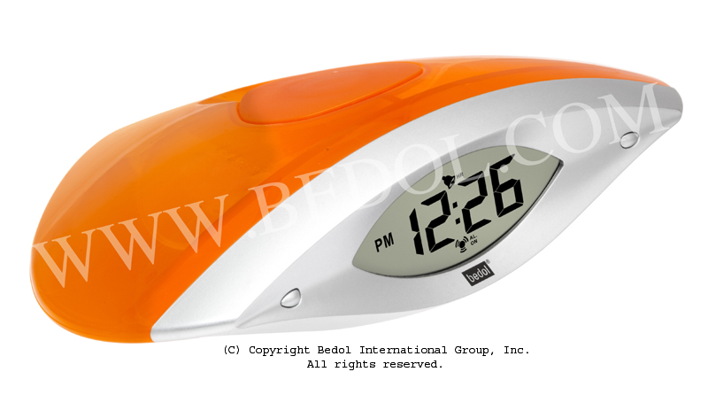 The Bedol Water Clock Wink Alarm Orange